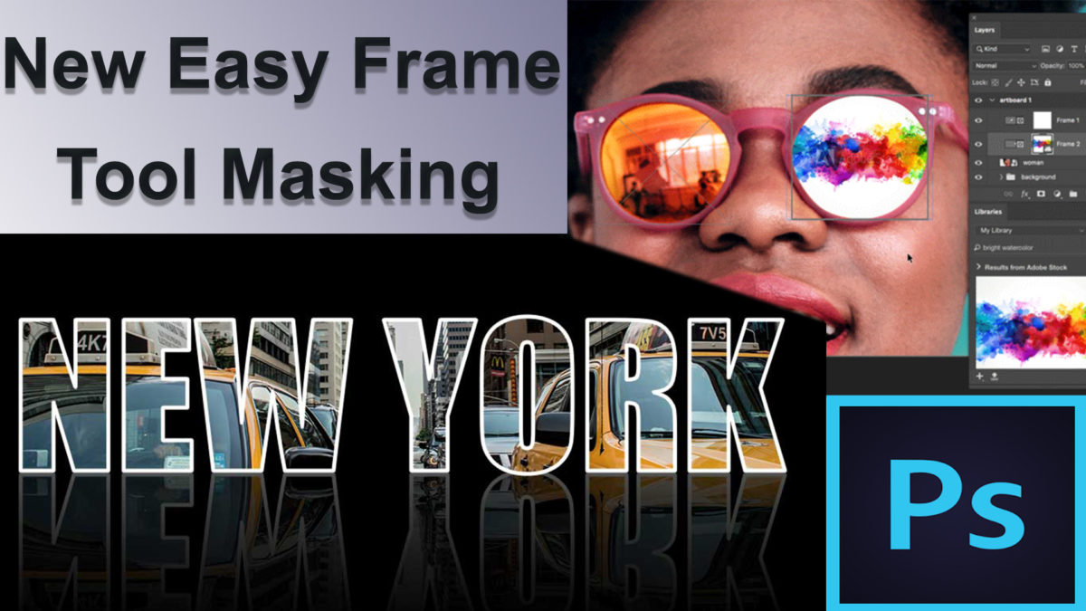 How to use new frame masking tool in Photoshop