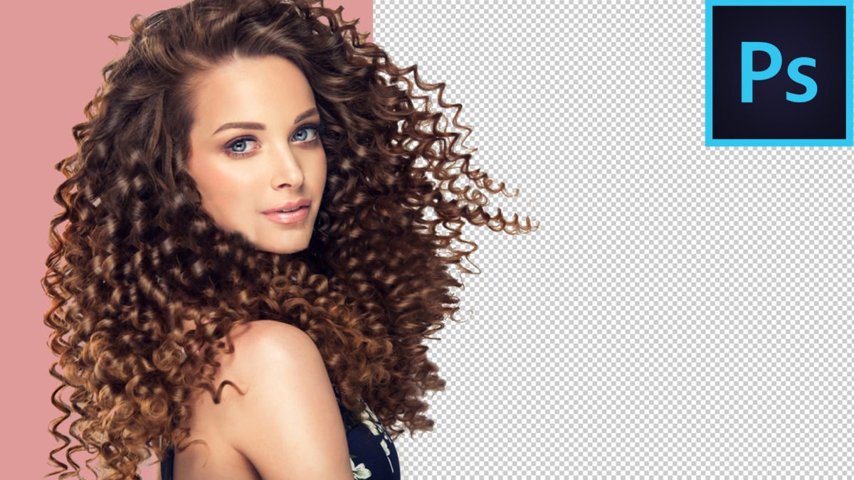 Easy way to cut out hair and select curly hair in Photoshop